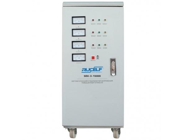 Трехфазный стабилизатор напряжения Rucelf SDV-3-15000 серии SDV