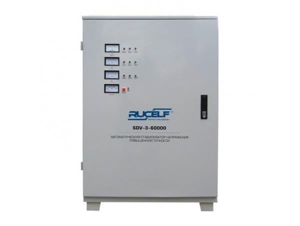 Трехфазный стабилизатор напряжения Rucelf SDV-3-60000 серии SDV