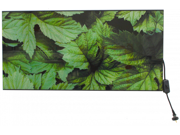 Настенный  стеклянный ИК-обогреватель ТЕПЛОФОН Glassar ЭРГН-0,6 с изображением