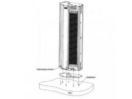 Основание для вертикальной установки  Zilon V-BFM тепловых завес серии Витязь
