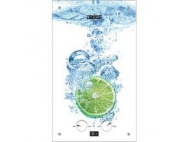 Газовый проточный водонагреватель Zanussi GWH 10 Fonte Glass Lime серии Fonte Glass