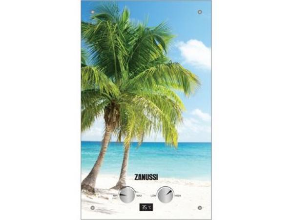 Газовый проточный водонагреватель Zanussi GWH 10 Fonte Glass Paradiso серии Fonte Glass